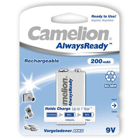 Pin sạc 9V Camelion 200 mAh vỉ 1 viên