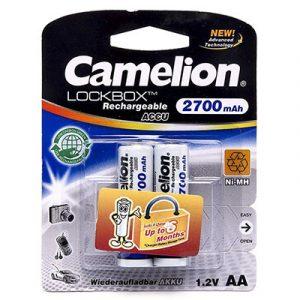 Pin sạc AA Camelion 2700 mAh vỉ 2 viên