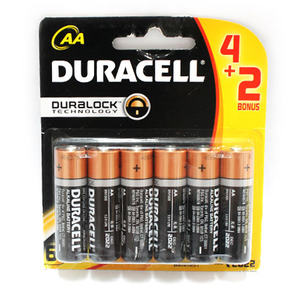 Pin AA Duracell vỉ 6 viên