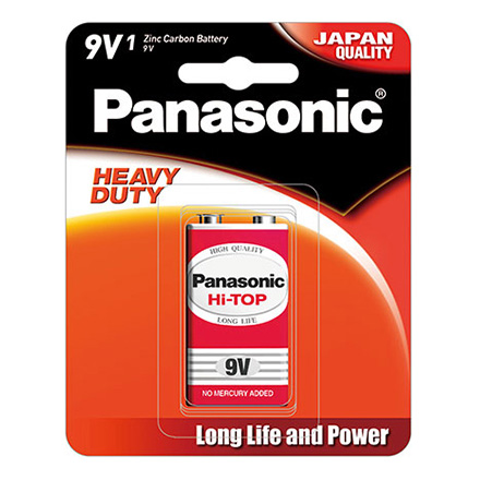 Pin 9V Panasonic Hi-Top Carbon vỉ 1 viên