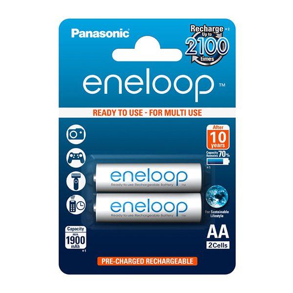 Pin sạc AA Panasonic Eneloop 1900 mAh vỉ 2 viên