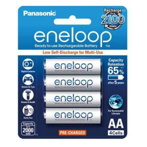 Pin sạc AA Panasonic Eneloop 2000 mAh vỉ 4 viên