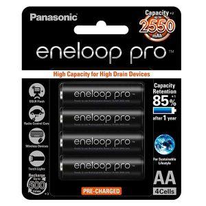 Pin sạc AA Panasonic Eneloop 2550 mAh vỉ 4 viên