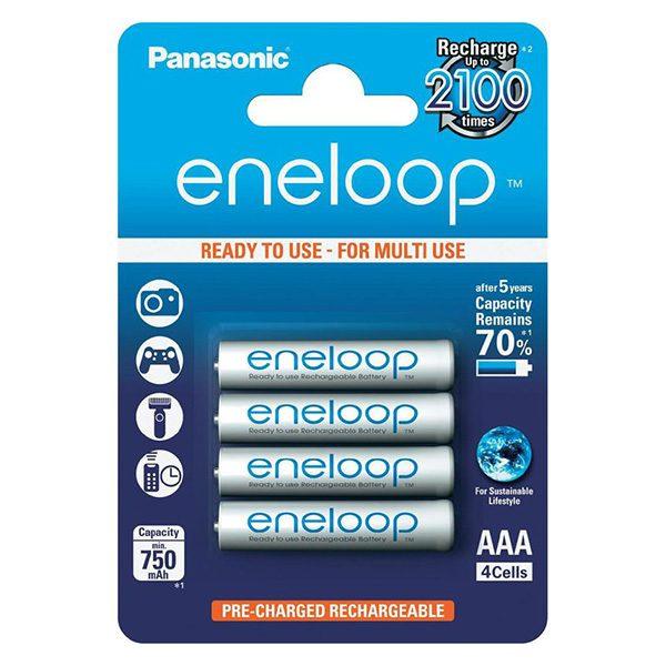 Pin sạc AAA Panasonic Eneloop 750 mAh vỉ 4 viên