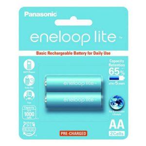 Pin sạc AA Panasonic Eneloop Lite 1000 mAh vỉ 2 viên