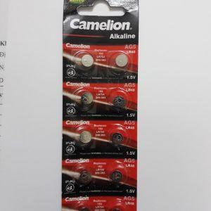 Pin AG5, 393A, CX193, LR754W Camelion LR754 Vỉ 10 Viên