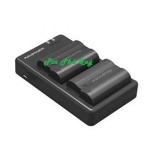 Bộ pin và đế sạc RAVPower RP-BC002 dùng cho máy ảnh Nikon EN-EL14