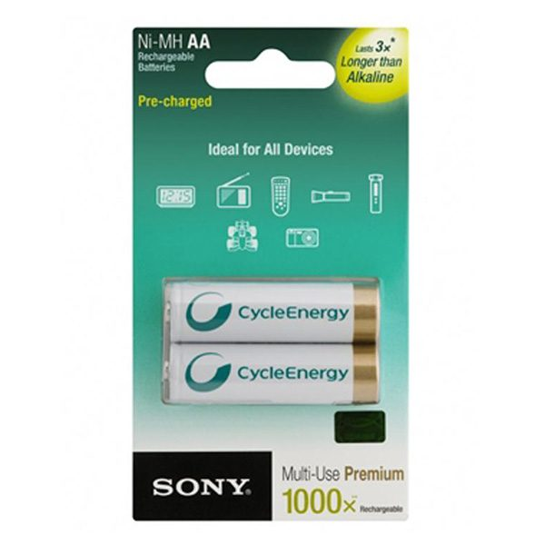 Pin sạc AA Sony 2100 mAh vỉ 2 viên