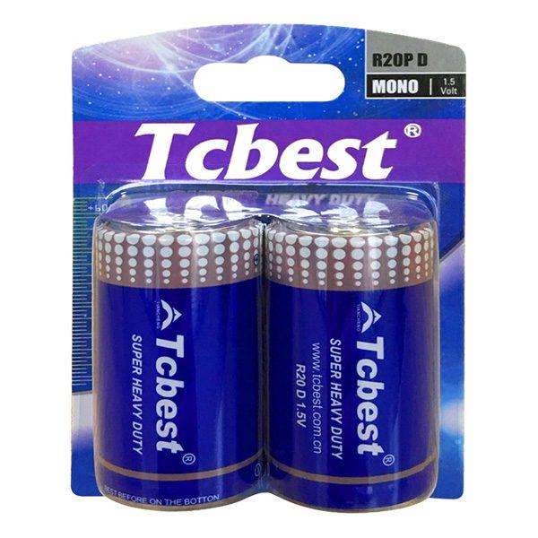 Pin đại Tcbest D Carbon vỉ 2 viên
